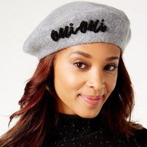 ⬇️$32 August Hats-Oui Oui Grey & Black Beret
